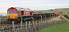 66152 with engineering train at Muchalls Viaduct on 8th January 2012
