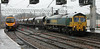66529 approaches a wet Carlisle on 31st January 2014