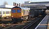 66732 runs north through Tonbridge on 2nd January 2014