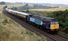 47810 leads 1Z42 Aberdeen to Blair Atholl Northern Belle over Inverkeilor Viaduct on Sunday 5th August 2012