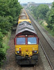 6K10 66160 on rear of MOBC runs through Carnoustie on Sunday 12th August 2012