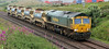 66614 with northbound 6Y81 ballast hoppers for overnight work in the Carmont area on 23rd July 2012