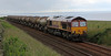 66110 with 4N83 from Aberdeen to Mossend at Cairnrobin on 14 th July 2012