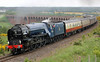 60163 Tornado comes off Culloden Viaduct with the Cathedrals Express on Saturday 15th June 2013