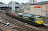 66595 passes Perth Station on Sunday 28th June with a Carmont to Millerhill engineer's train.