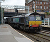 66424 leads a small convoy of DRS 66s into the middle roads at Carlisle Station to depart back to Kingmoor shortly afterwards.