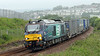 At last - a 68 heading south from Aberdeen. Last years runs were so late in the year that the southbound journey was in the dark. 68003 Astute heads past Girdleness in the drizzle on Friday 26th June 2015.