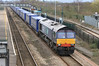 66302 with the new 4V38 Daventry to Wentloog Tesco Express at Severn Tunnel Junction station on Sunday 18th March 2012