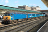 57313 leads the Holyhead to Cardiff passenger train into Newport on Monday 19th March 2012 (57316 on rear)