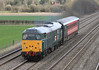 Devon and Cornwall Class 31 31601 with single carriage at Cholsey on Tuesday 20th March 2012