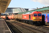 60063 heads through Newport Station on Monday 19th March 2012 with the 6B13 Robeston to Westleigh tanks