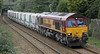 66096 with china clay train at St Austell on 11th March 2013