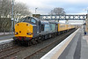 37605 pulls into Dyce on Sunday 16th March 2014 with test train