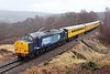 37667  with 37605 on rear head over Slochd on 14th March 2014