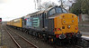 37667 on rear of test train as it leaves Dyce on Sunday 16th March 2014