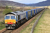 66414 James the Engine heads south through Dalwhinnie on 14th May 2011