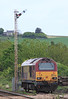 67021 sits on Stonehaven siding on 15th May after failing on sleeper earlier in May.