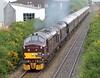37685 and 37516 leading the Royal Scotsman out of Dyce on 7th May 2014 with Classic Tour.