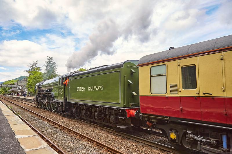 Tornado (60163) at Dunkeld & Birnam Station - 20 June 2015