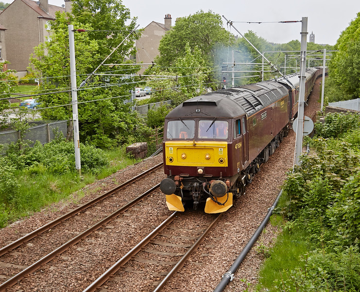 Class 47 Diesel Locomotive (47854) at Gourock - 29 May 2016