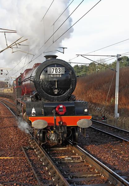 Princess Elizabeth (6201) - Approaching Carstairs Station - 13 November 2011