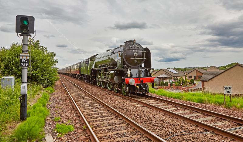 Tornado (60163) at Cowdenbeath on the Fife Circle - 5 July 2015