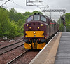 "Diesel Class 37 - 37676 ""Loch Rannoch"" and 37516 Arrive at Paisley Station - 6 June 2012"