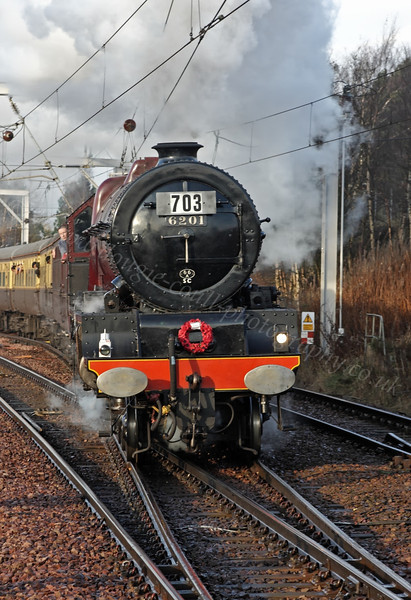 Princess Elizabeth (6201) - Approaching Carstairs Station - 13 November 2011