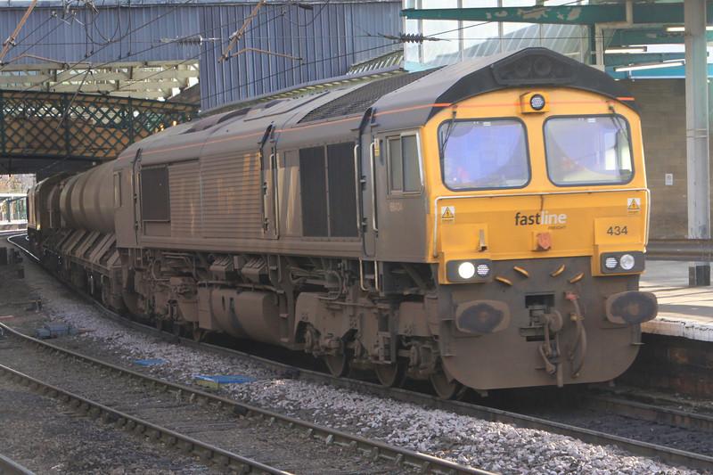 66434 leads 66304 on RHTT at Carlisle on 24th November 2011