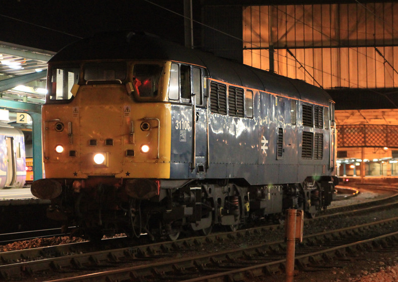 31106 halts at Carlisle on 24th November 2011 after route learning trip to Inverness