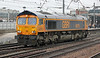 66751 passes through Doncaster Station on Saturday 15th November 2014