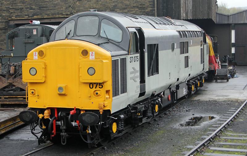 37075 at Haworth Yard on KWVR on Sunday 16th November 2014