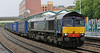 66301 at Newport on Monday 1st October 2012 with Daventry to Wentloog Tesco containers