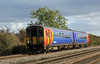 156405 runs past Cossington on Leicester to Lincoln run on 3rd October 2012
