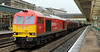 60007 with heavily loaded steel train at Newport on Monday 1st October 2012