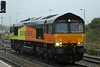 66846 in pouring rain and poor light at Westbury on Monday 21st October 2013
