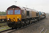 66074 with RHTT in a downpour at Westbury on Monday 21st October 2013