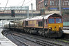66177 with empty cement tanks from Mossend to Clitheroe enters Carlisle station on Friday 4th October 2013