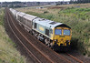 66523 with the 6A65 Oxwellmains to Craiginches cement at Altens on Wednesday 5th September 2012.