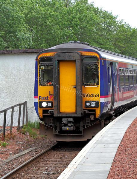 First Scotrail Class 156 Super Sprinter 156458 - Garelochhead Station - 2 June 2012