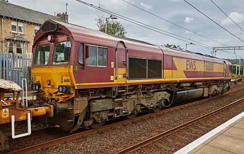 Class 66 Locomotive (66100) at Gourock - 11 September 2016