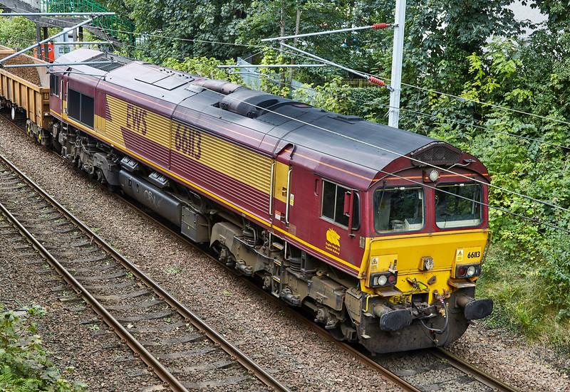 Class 66 Locomotive (66113) at Gourock - 11 September 2016