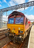 EMD DB Schenker Class 66 Diesel (66014) at Gourock Station - 23 April 2017