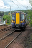 Train Approaching Station - Langbank - 22 June 2012