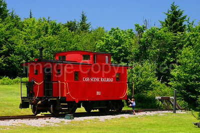 Cass Scenic Train Railroad Caboose at Bald Knob WV