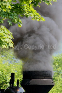Smoke from Train Stack - 7/19/06