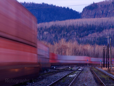 Freight Train Moving Goods