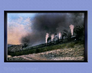 Train Crossing Soldiers' Summit, Utah