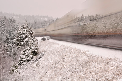 Winter Train Travelling