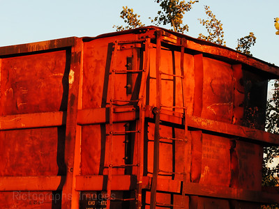 An Old Train Car Ready For Recycling
